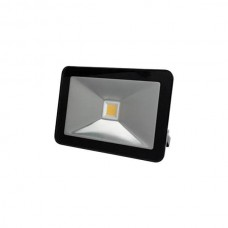 LED FLOOD LIGHT 10W ZWART, WARMWIT