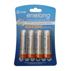 ENELONG HERLAADBARE BATTERIJ READY TO USE NiMH 4 x AA 2100MAH BLISTER